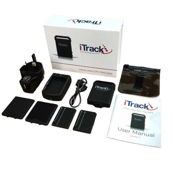 iTrack Mini GPS Tracker Box Contents